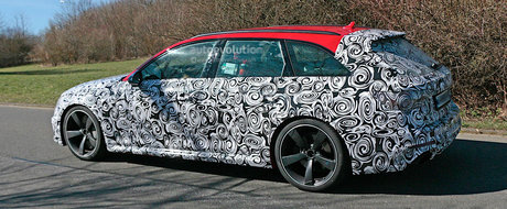 Super-break-ul nemtilor de la Audi surprins in teste in apropiere de Nurburgring