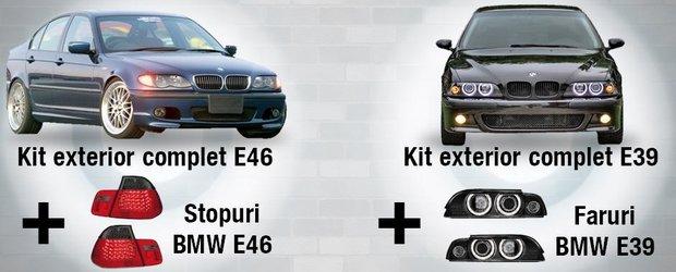 Super oferta pentru posesorii de BMW: cumpara un kit exterior si primesti cadou un set de faruri sau stopuri!
