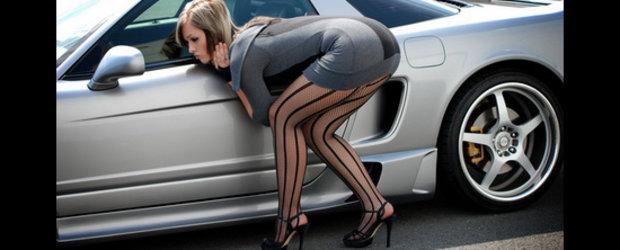 Super Pictorial: Fetele iubesc supercarurile. Fetele iubesc Acura NSX!