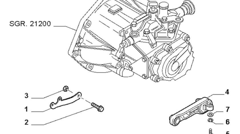 Suport cutie viteze motor 1,4 benzina Fiat Linea FIAT OE 51 813 607