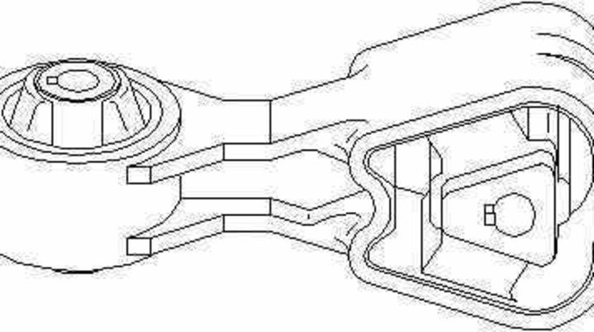 Suport motor PEUGEOT 607 9D 9U TOPRAN 722 156