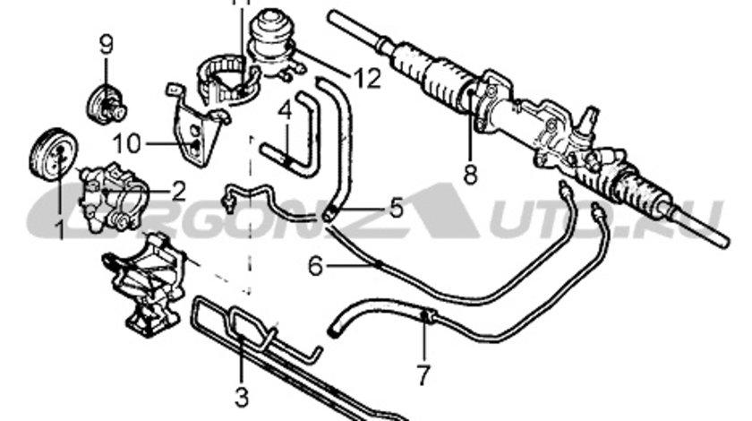 Suport rezervor lichid servo Renault Laguna 1, Original 7700823691 Kft Auto
