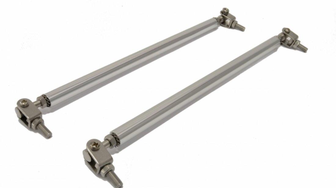 Suport rigidizare pentru spoiler/lip universal argintiu
