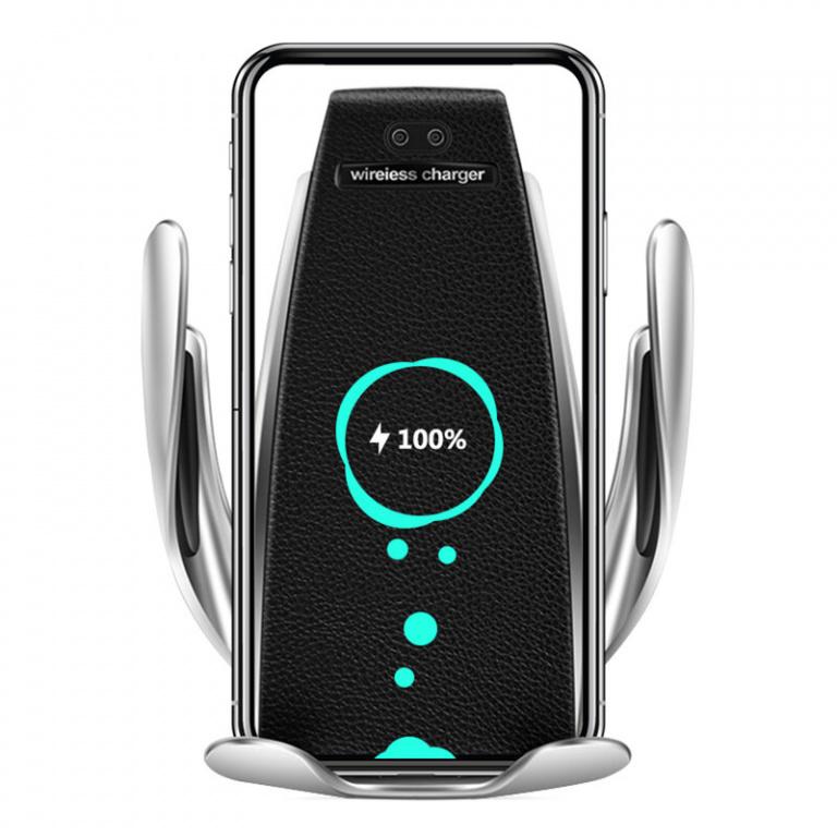 Suport Telefon Motorizat Hoverwheel Cu Incarcare Wireless S5 2IN1