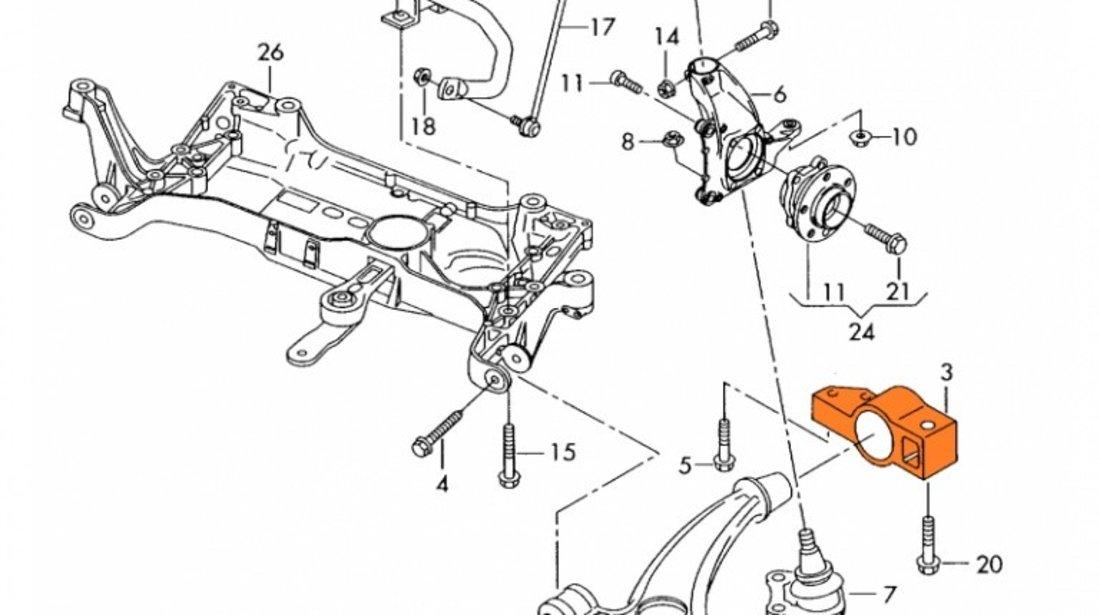 Suport Trapez Bucsa Brat Suspensie Febi Volkswagen Passat CC 2012-2016 30691