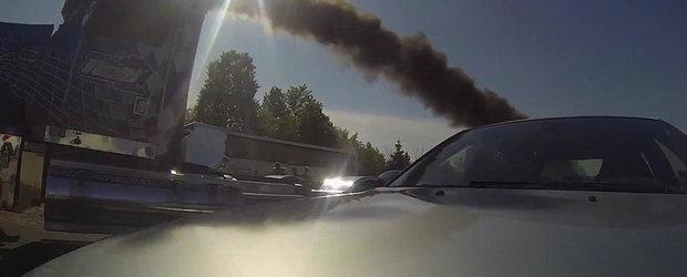 Surpriza de la DRAG: UN BMW M5 E60 ia bataie de la un... camion diesel