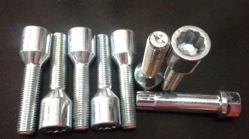 Surub prezon roata auto tip imbus tuner system cu filet lung 45 mm M12x1.5/12X1.25 si M14x1.5