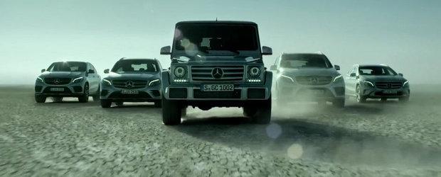 SUVurile Mercedes cauta sa ne inspire cu reclama lor in stil hollywoodian