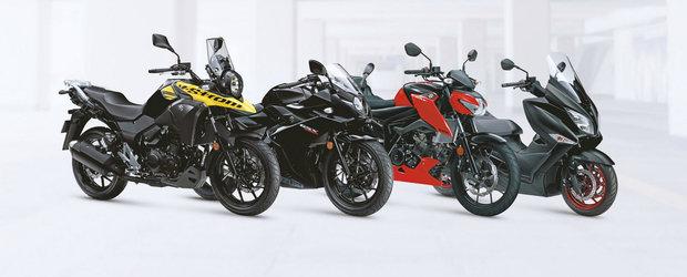 Suzuki lanseaza patru noi motociclete sub 400 cmc
