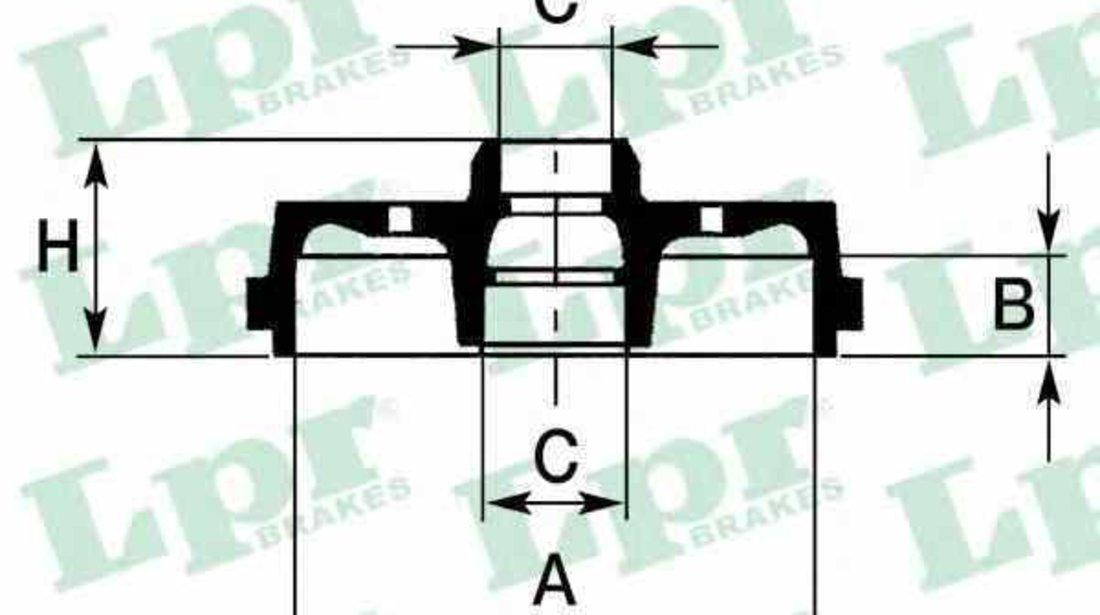 Tambur frana AUDI 100 Avant 4A C4 LPR 7D0434