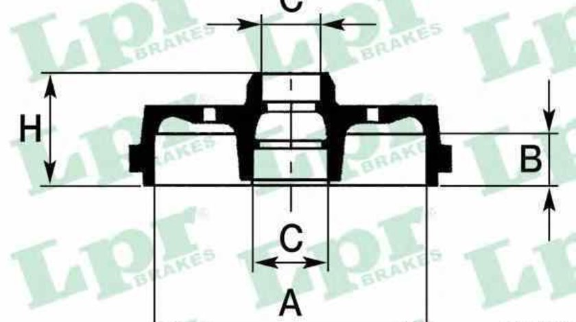 Tambur frana AUDI 80 Avant 8C B4 LPR 7D0239