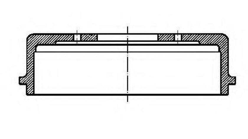 Tambur frana AUDI A2 (8Z0) (2000 - 2005) CIFAM 700-358 piesa NOUA