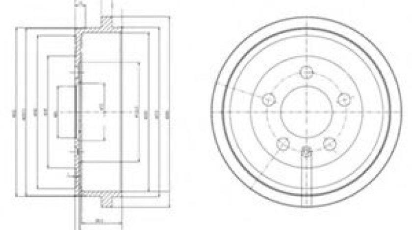 Tambur frana AUDI A2 (8Z0) (2000 - 2005) DELPHI BF463 piesa NOUA