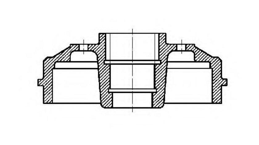 Tambur frana DACIA LOGAN MCV (KS) (2007 - 2016) CIFAM 700-381 produs NOU