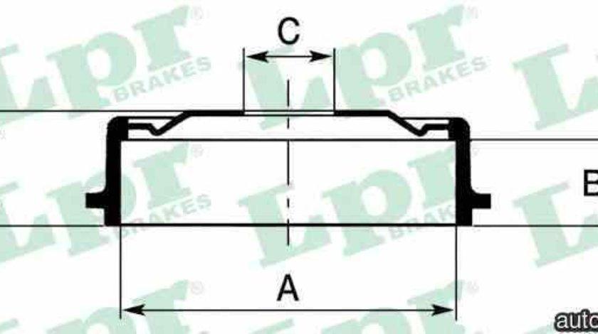Tambur frana OPEL ASTRA F hatchback 53 54 58 59 LPR 7D0137