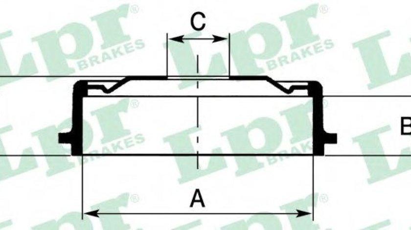 Tambur frana OPEL ASTRA G Hatchback (F48, F08) (1998 - 2009) LPR 7D0138 piesa NOUA