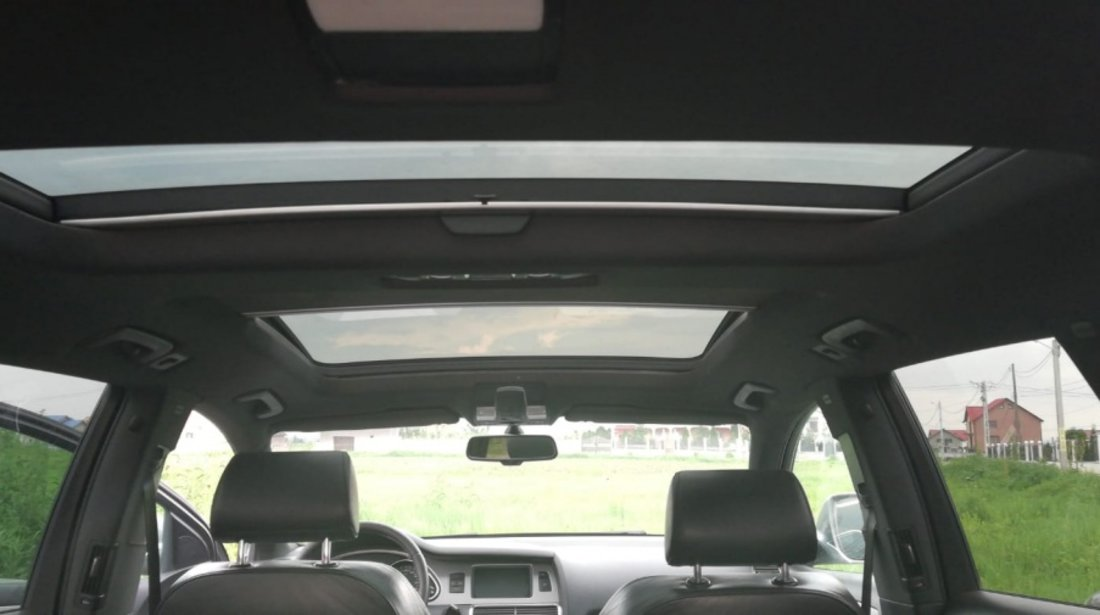 Tapiterie Plafon textil negru s line negru cu panroma panoramic trapa Audi Q7 s-line