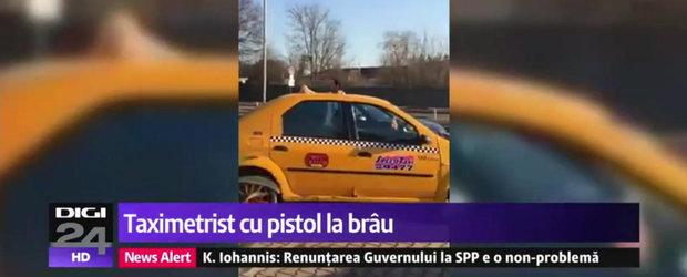 Taximetrist pistolar in Bucuresti: daca nu lasi ciubuc, risti un glont in fund