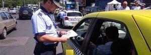 Taximetristii au fost 'periati' de Politia Rutiera si s-au ales cu permise suspendate
