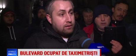 Taximetristii s-au ales cu dosar penal de prostie, dupa ce au blocat strazile ca sa protesteze impotriva Uber