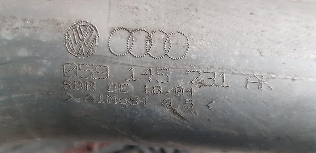 Teava / tub intercooler Audi A6 C6 4F 2.7 TDI 163 CP BSG cod 059145731AK