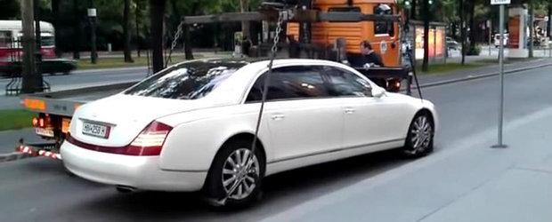 Tentativa de a ridica un Maybach pentru parcare ilegala se incheie inainte de a incepe