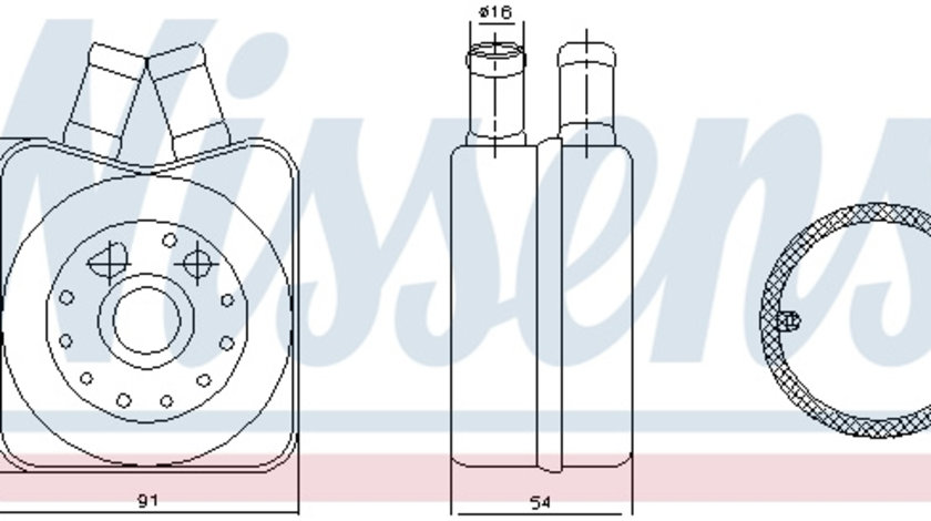Termoflot radiator ulei (90x54x90; cu garnitura) AUDI 80, A3, A4, A6, A8, CABRIOLET, COUPE; SEAT ALHAMBRA, ALTEA, ALTEA XL, CORDOBA, IBIZA II, IBIZA III, LEON, TOLEDO II 1.4-2.8 dupa 1991