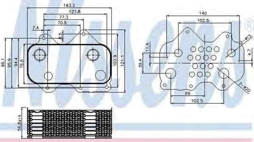 Termoflot radiator ulei AUDI A8 (4D2, 4D8) NISSENS 90712 cod intern: 90712I