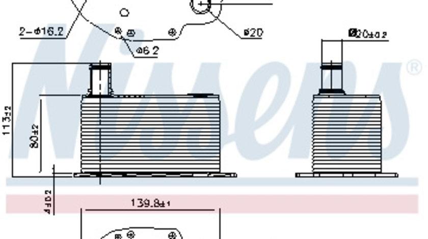 Termoflot radiator ulei BMW Seria 3 (E46), 3 (E90), 3 (E91), 3 (E92), 3 (E93), 5 (E60), 5 (E61), 6 (E63), 6 (E64), 7 (E65, E66, E67), X3 (E83), X5 (E53), X5 (E70), X6 (E71, E72) 2.5D/3.0 d intre 2002-2