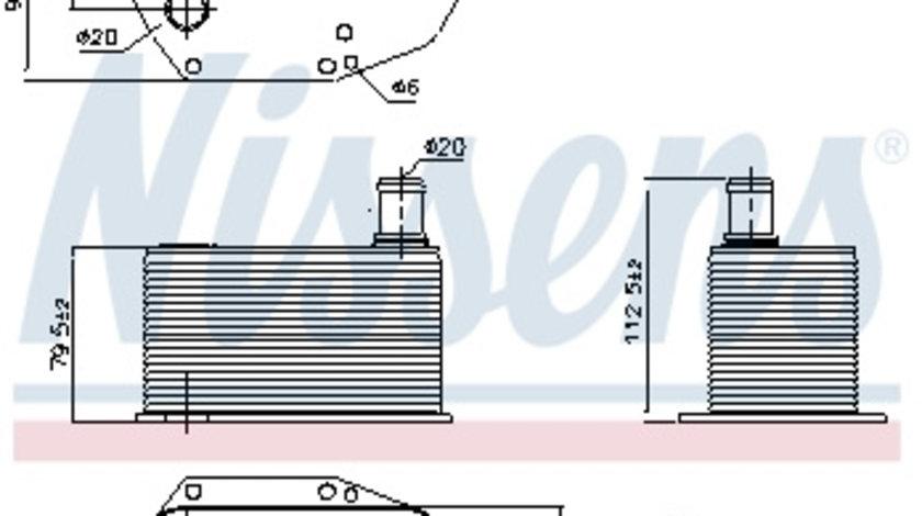 Termoflot radiator ulei BMW Seria 3 (E46), 5 (E39), 7 (E38), X5 (E53) 2.5D/3.0 d intre 1998-2005 cod intern: CI4031CF