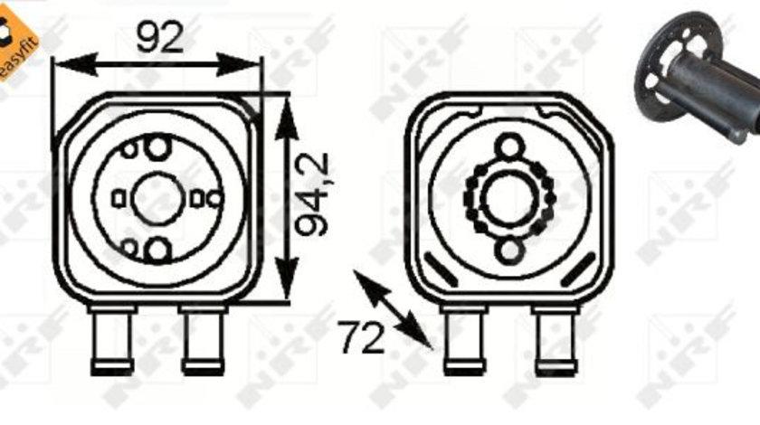 Termoflot radiator ulei (cu garnitura) AUDI A3, A4, A6, A8; SEAT ALHAMBRA, CORDOBA, CORDOBA VARIO, IBIZA II, LEON, TOLEDO I, TOLEDO II; SKODA OCTAVIA I, SUPERB II; VW BORA, EOS, GOLF III 1.6-3.6 03.91