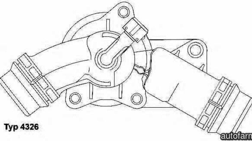 Termostat BMW X5 E53 WAHLER 4326.97D