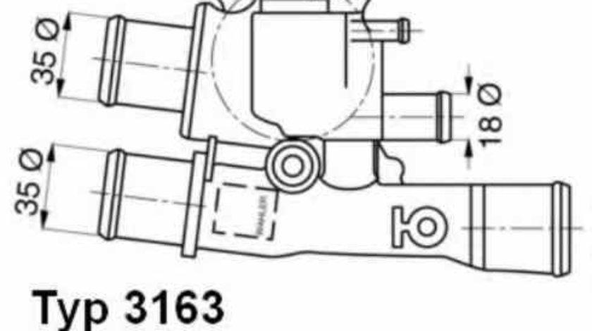 Termostat FIAT DOBLO Cargo (223) WAHLER 3163.88D