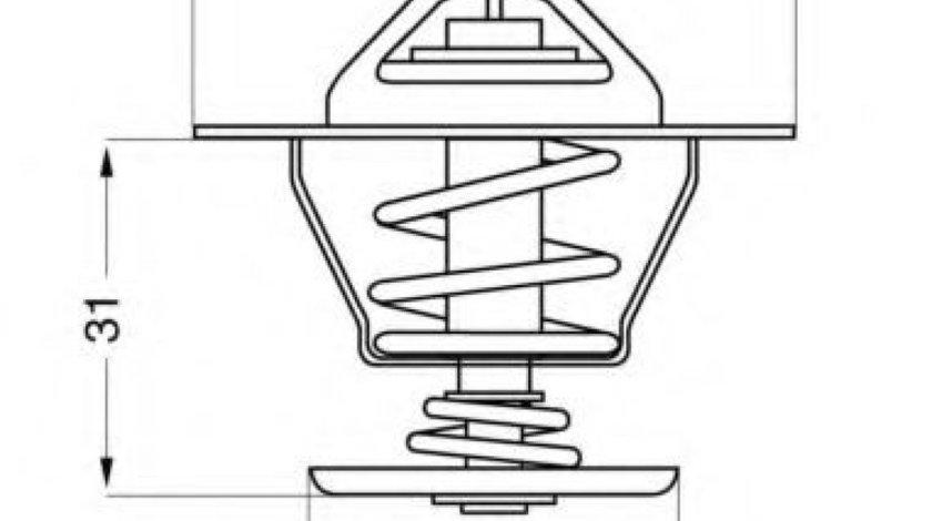 Termostat,lichid racire AUDI A4 Cabriolet (8H7, B6, 8HE, B7) (2002 - 2009) WAHLER 4264.87D piesa NOUA