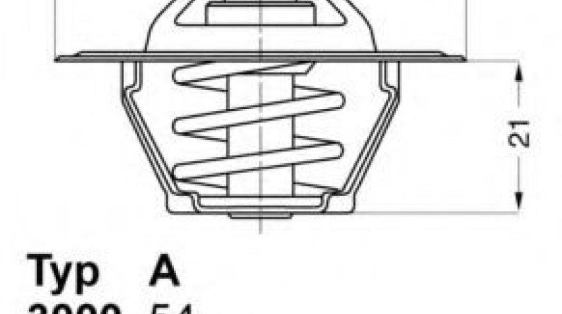 Termostat,lichid racire AUDI A6 (4A, C4) (1994 - 1997) WAHLER 3141.87D produs NOU