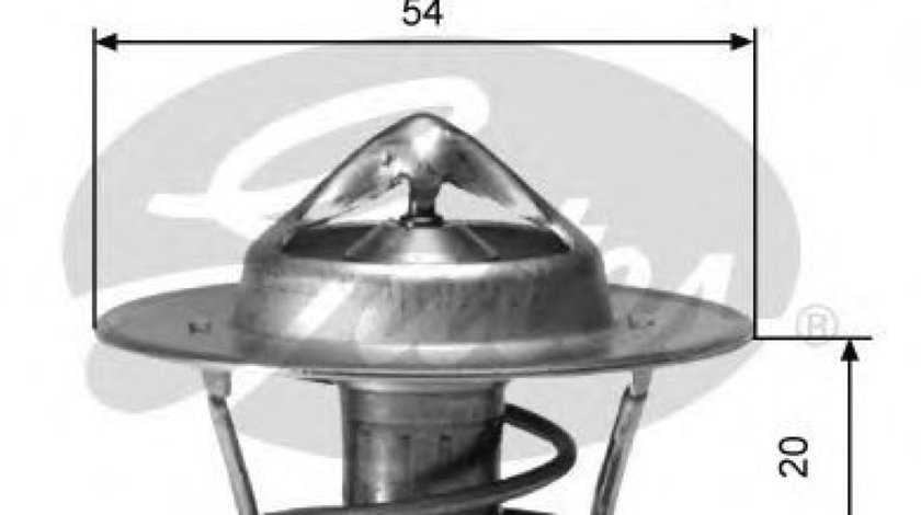 Termostat,lichid racire FIAT DUCATO platou / sasiu (244) (2002 - 2016) GATES TH00182G2 piesa NOUA