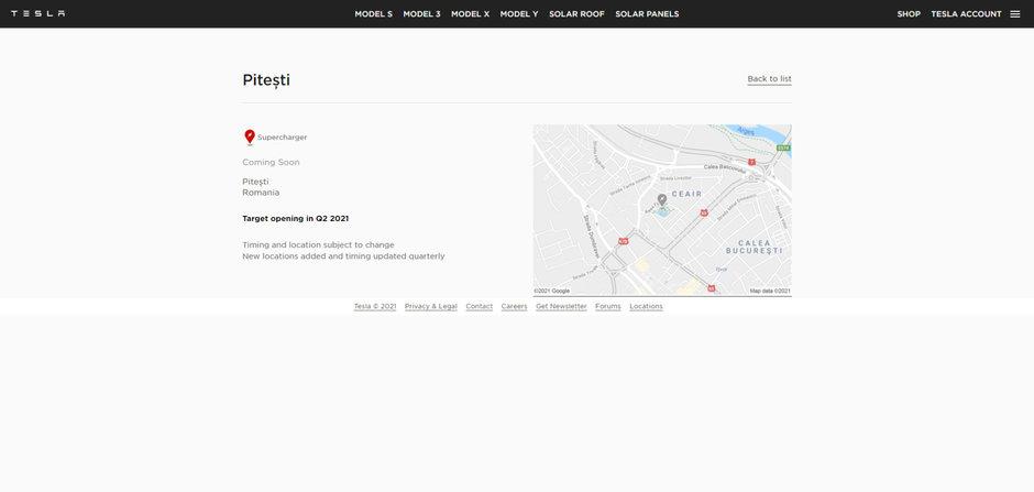 Tesla anunta primele statii de incarcare din Romania. Unde vor fi instalate