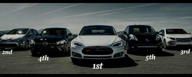 Tesla Model S invinge Mercedes CLA in testul aerodinamicitatii