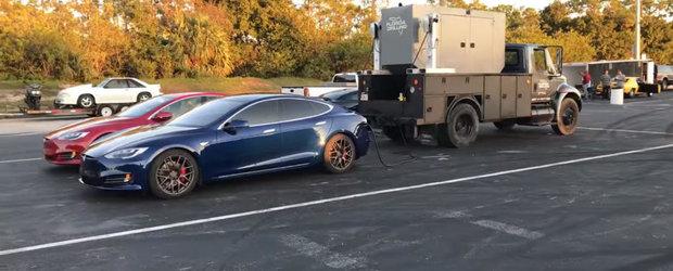 Tesla Model S P100D devine cel mai rapid sedan de serie din lume. A parcurs sfertul de mila in 10.76 secunde