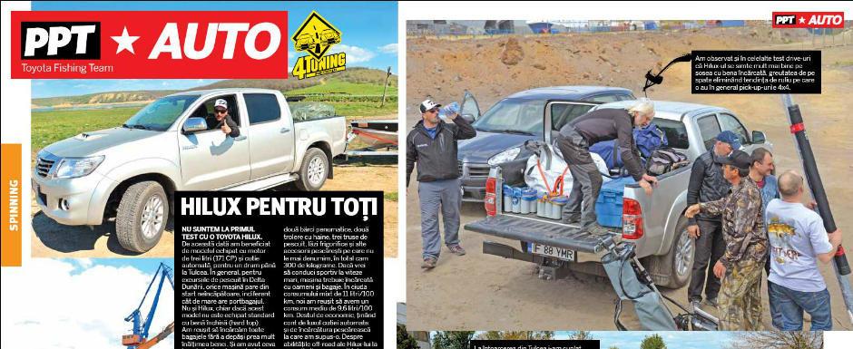 Test 4Tuning si revista 'Pescuitul pentru Toti': Toyota Hilux 3.0 D-4D