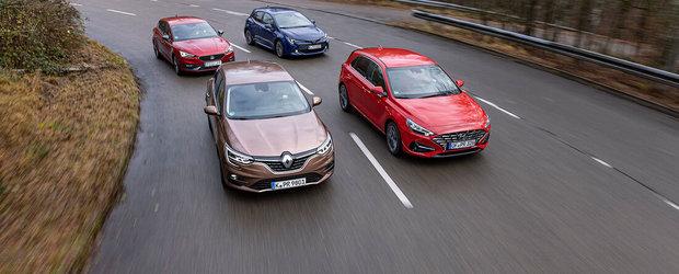 Test comparativ Renault Megane, Hyundai i30, Seat Leon, Toyota Corolla