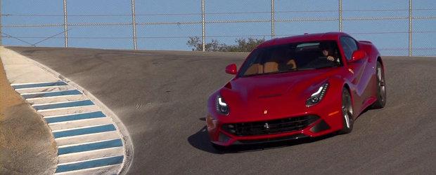 Test cu Ferrari F12 Berlinetta la Laguna Seca
