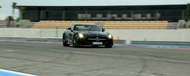 Test cu noile Mercedes SLS AMG Black Series si SLS AMG Electric Drive