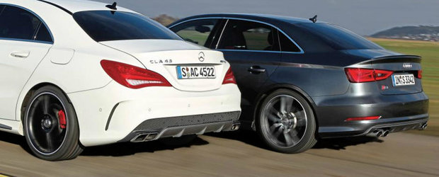 Test de acceleratie: Audi S3 Sedan versus Mercedes CLA45 AMG