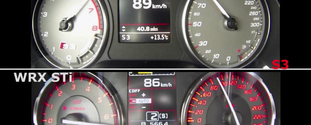 Test de acceleratie: Audi S3 versus Subaru WRX STI