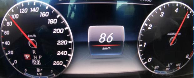 TEST DE ACCELERATIE cu cel mai accesibil Mercedes E-Class cu motor pe benzina. Cum se descurca