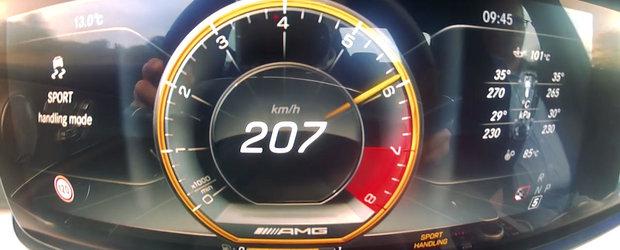 Test de acceleratie cu cel mai rapid Mercedes al momentului