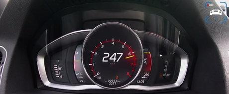 Test de acceleratie cu masina suedeza care scoate 367 CP dintr-un benzinar de numai doi litri. VIDEO