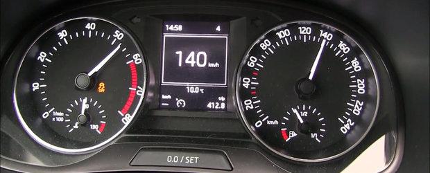 Test de acceleratie cu o... Skoda Fabia de un litru si 60 CP