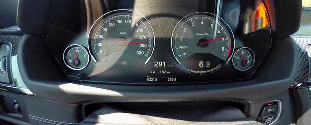 Test de acceleratie la bordul noului BMW M4 Coupe